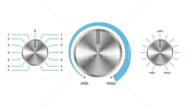 ベクトル ボリューム バランス 銀 ホーム 金属 ストックフォト © Designer_things