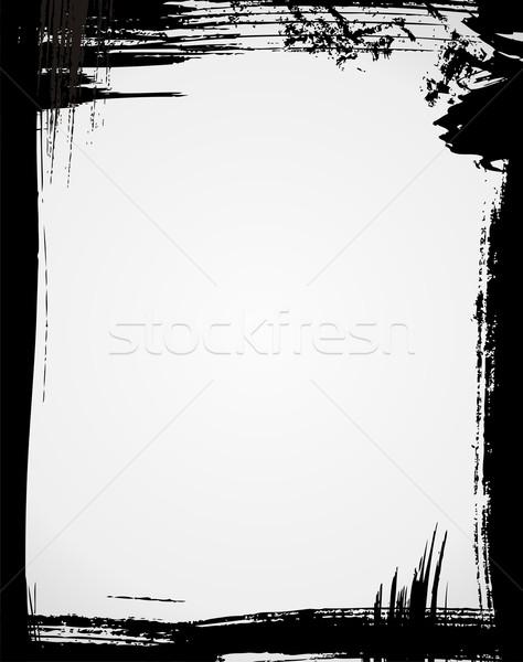Grunge keret fekete szín textúra absztrakt Stock fotó © Designer_things