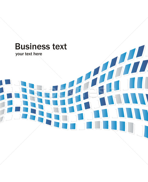 Business abstrakten Phantasie Quadrate Textur blau Stock foto © Designer_things