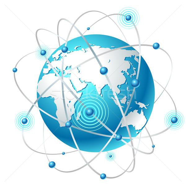 Comunicação mapa limpar branco mundo terra Foto stock © Designer_things