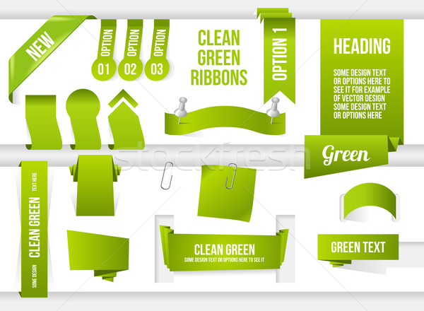 Groene web communie banners hoek Stockfoto © Designer_things