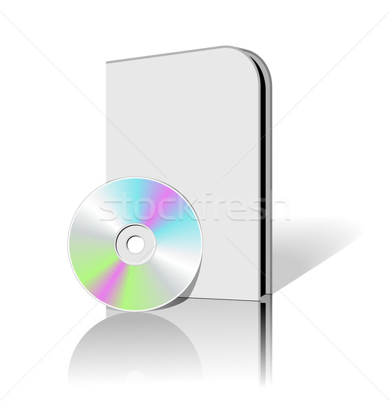 Cd boîte 3D cases vecteur Photo stock © Designer_things
