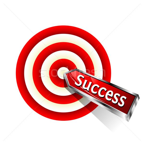 успех красный дартс целевой вектора знак Сток-фото © Designer_things