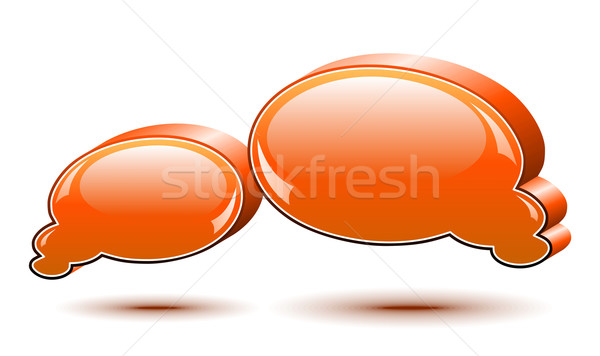 Chat box. Orange Stock photo © Designer_things