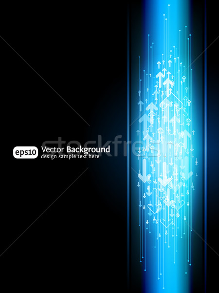 Business arrow site background. Vertical illustration Stock photo © Designer_things