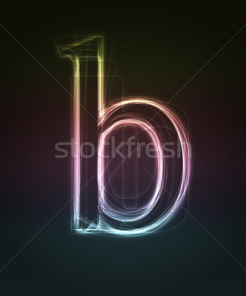 Doopvont brief neon klein Stockfoto © Designer_things