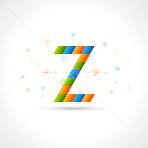 Abstract Logo template like letter Z. Easy to colorize to your logotype Design. Color Corporate icon Stock photo © Designer_things