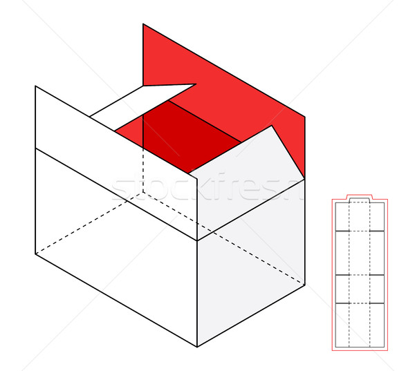 Simple vector box template Stock photo © Designer_things