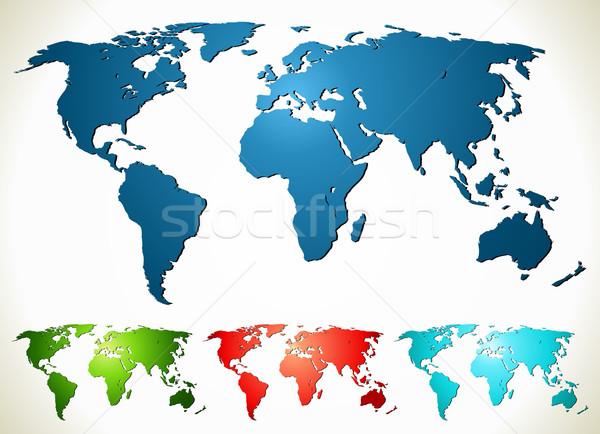 Mappa del mondo diverso colore texture internet terra Foto d'archivio © Designer_things