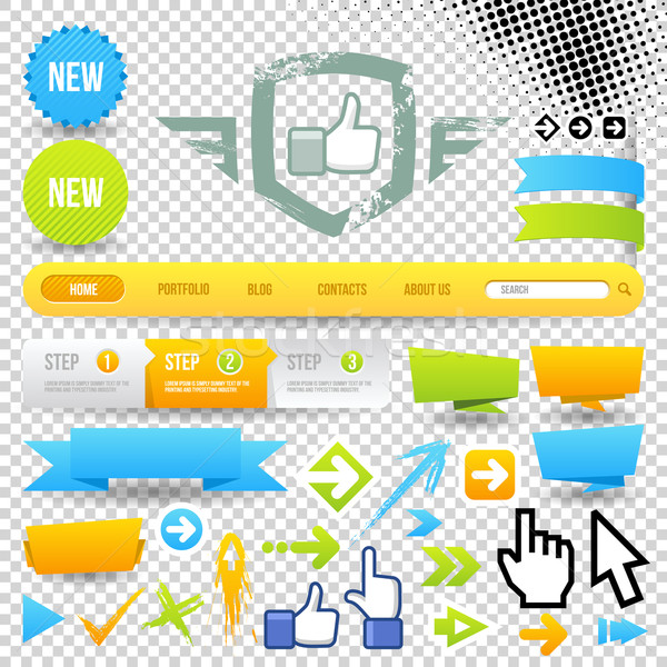 Web Template Icon and Arrows Stock photo © Designer_things