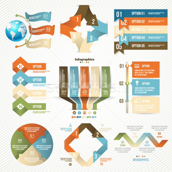 Infographics set with options. Vector Design Elements. Stock photo © Designer_things