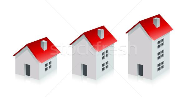 Huis onroerend groeien business geld gebouw Stockfoto © Designer_things