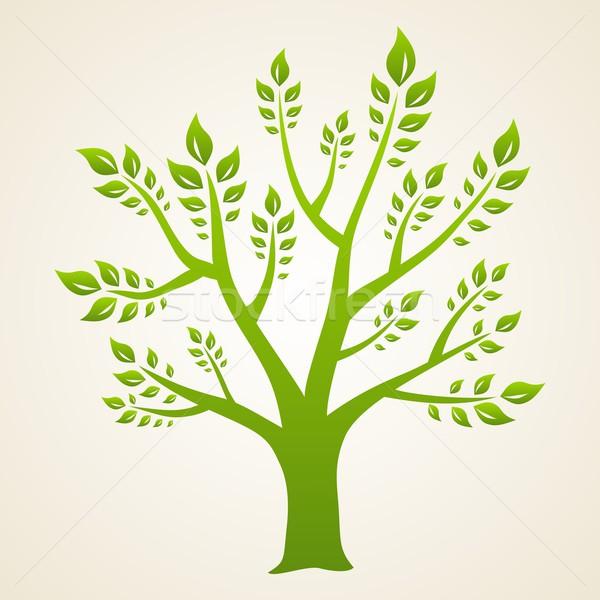 Groene boom abstract natuur ontwerp blad teken Stockfoto © Designer_things