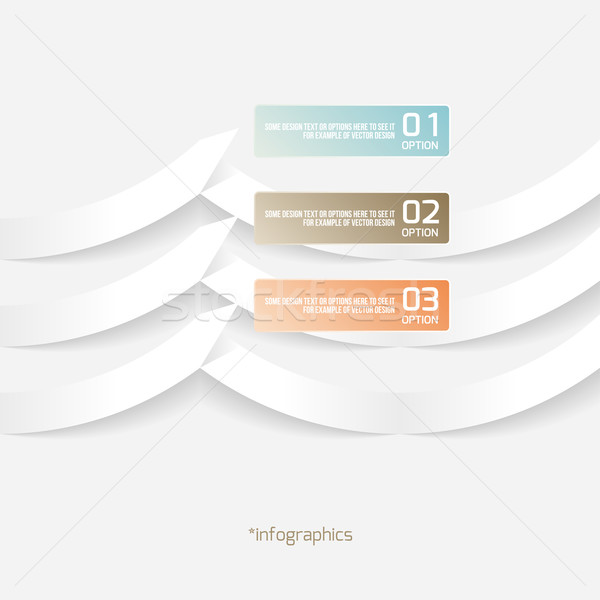 Abstract Origami Style Paper Infografics. Vector Illustration with Banner Options.  Stock photo © Designer_things