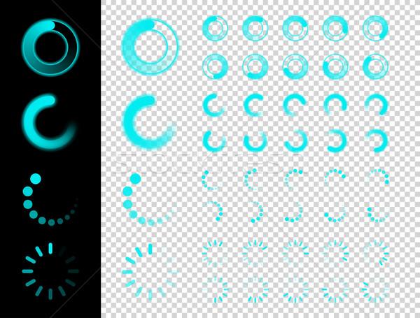 Transparent Preloaders. Motion Round Loader Stock photo © Designer_things