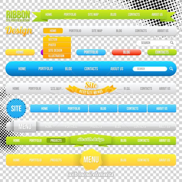 Web Menu Element Templates Stock photo © Designer_things