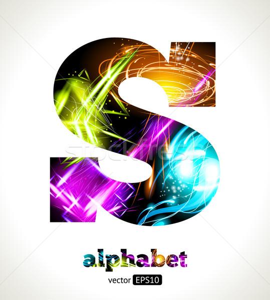 Wektora konfigurowalny świetle efekt list alfabet Zdjęcia stock © Designer_things