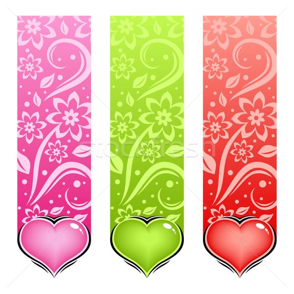 Glossy heart. Vector love card. Stock photo © Designer_things