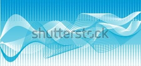 Vector Blauw golven illustraties golf abstract Stockfoto © Designer_things