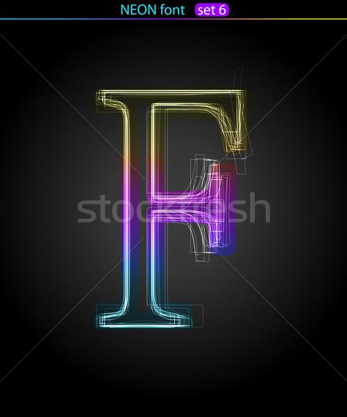 Neon letter  F Stock photo © Designer_things
