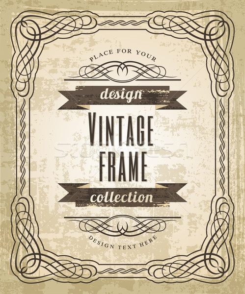 Vintage кадр вектора искусства текстуры книга Сток-фото © Designer_things