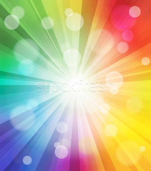 Colorido luz efecto vector ilustración Foto stock © Designer_things