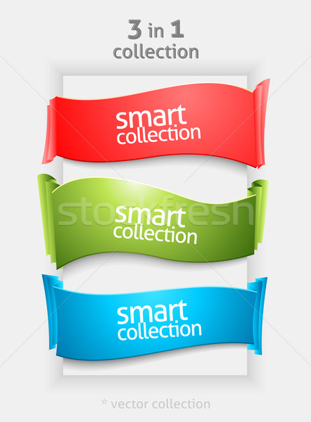 Ribbon and banner collection Stock photo © Designer_things