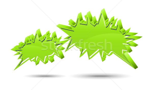 Chat box. Green Stock photo © Designer_things