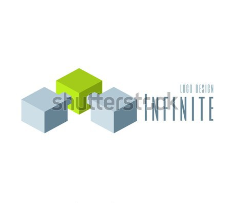 Techno Logo design template. Abstract Infinite shape logo templates. Team Concept  Stock photo © Designer_things