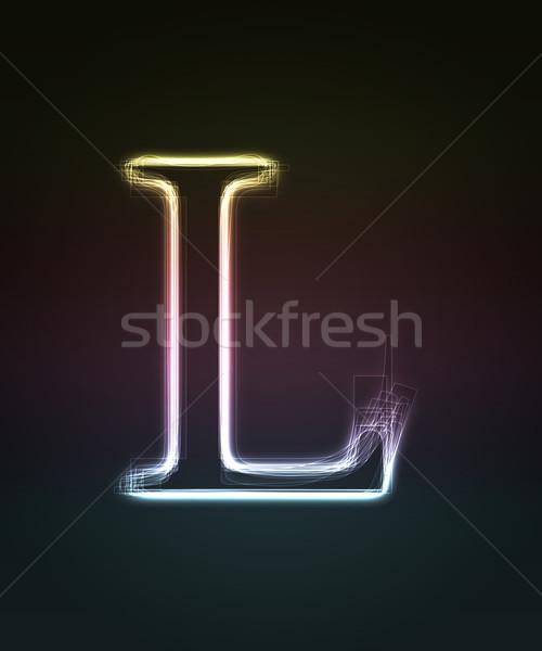 Doopvont letter l neon brief Stockfoto © Designer_things
