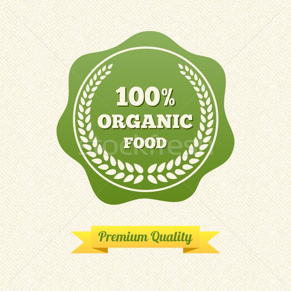 Vektor bioélelmiszer címke klasszikus terv papír Stock fotó © Designer_things