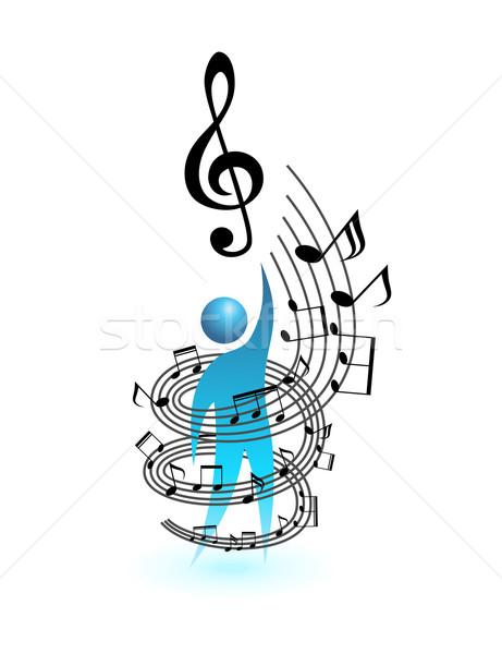 Música conceito vetor pessoas humanismo social Foto stock © Designer_things