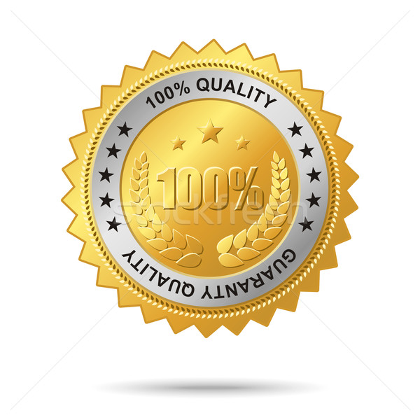 Guaranty quality golden label Stock photo © Designer_things