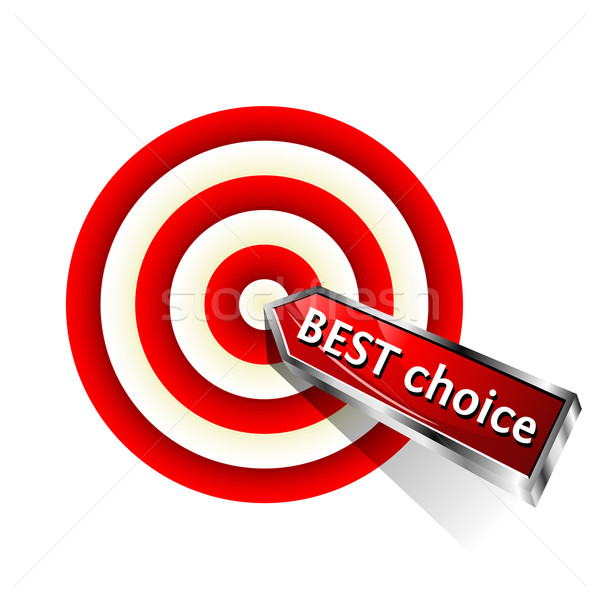 Legjobb választás üzlet ikon piros darts cél Stock fotó © Designer_things