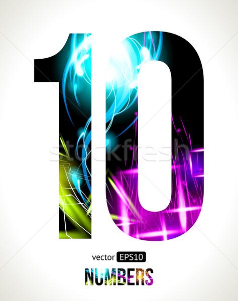 вектора номера дизайна свет эффект легкий Сток-фото © Designer_things