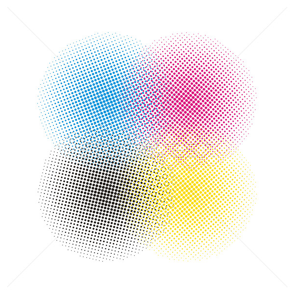 Halftoon vector zon abstract achtergrond Stockfoto © Designer_things