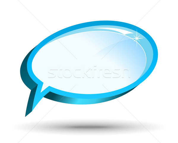 Chat box. Blue Stock photo © Designer_things