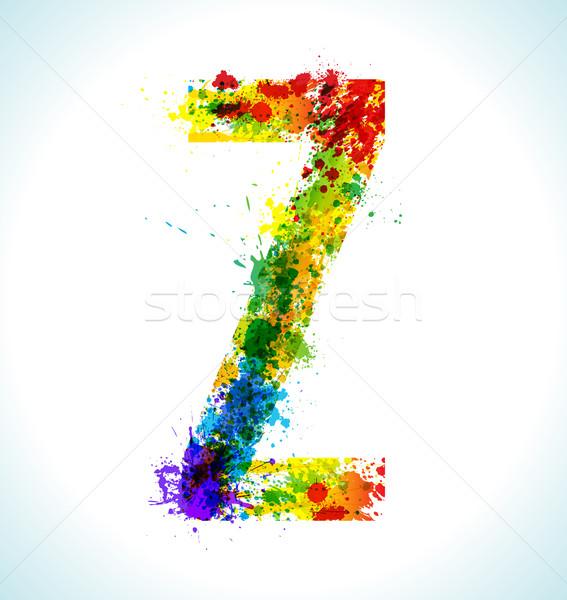 Gradient wektora chrzcielnica kolor farby Zdjęcia stock © Designer_things