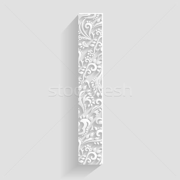 Letra i vetor floral convite cartões decorativo Foto stock © Designer_things