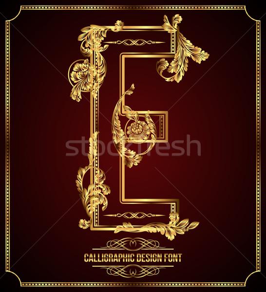 Design Schriftart floral Elemente Stock foto © Designer_things