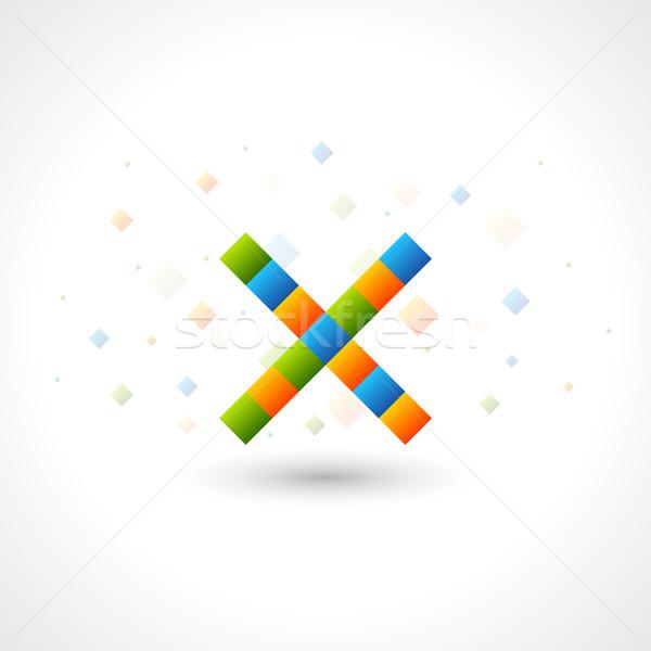 Stok fotoğraf: Logo · şablon · gibi · mektup · kolay