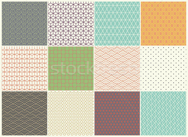 Different vector Seamless patterns Collection. Endless texture can be used for Wallpaper, Textile, p Stock photo © Designer_things