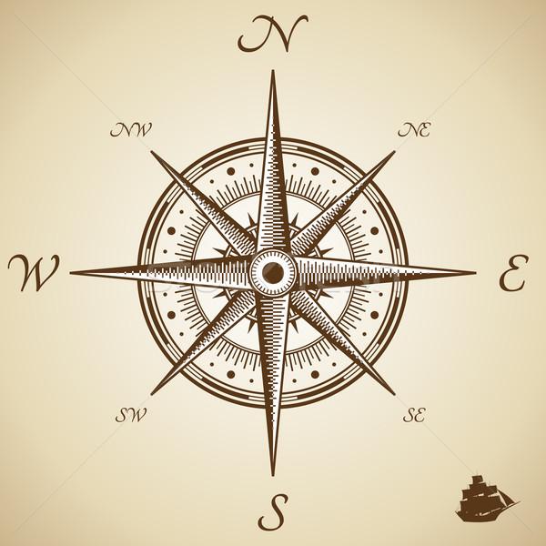 вектора компас высота качество иллюстрация старые Сток-фото © Designer_things