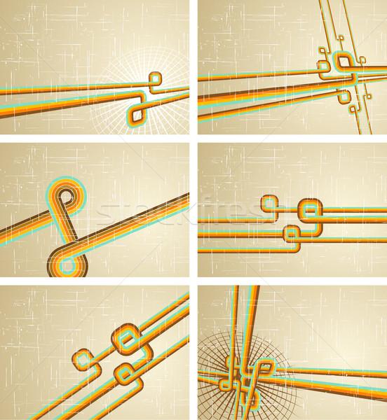 коллекция ретро дизайна фон пространстве Сток-фото © Designer_things