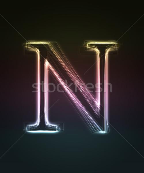 Doopvont neon brief Stockfoto © Designer_things