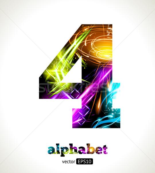 Vektör özelleştirilebilir ışık etki alfabe dizayn Stok fotoğraf © Designer_things