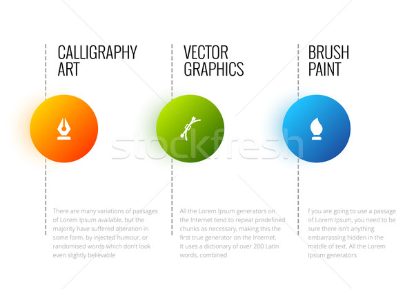 Vector abstract infographic template with place for your content and text Stock photo © Designer_things
