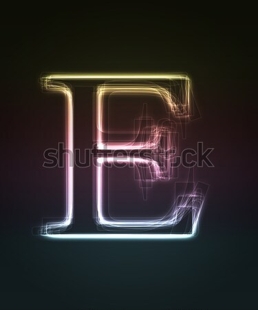 Neon letter  E Stock photo © Designer_things