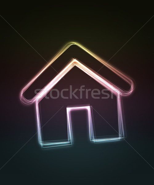 Huis zwarte abstract home achtergrond Stockfoto © Designer_things