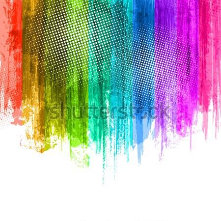 Pastel paint splashes background. Vector Stock photo © Designer_things